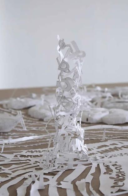 Peter Callesen - White Diary (detail)