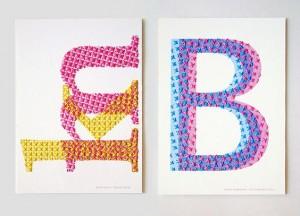 Fil à broder - Ordonné - Typographie